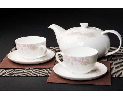 """Чайный сервиз Royal Aurel """"Сакура"""" на 6 персон 13 предметов арт. 149"""