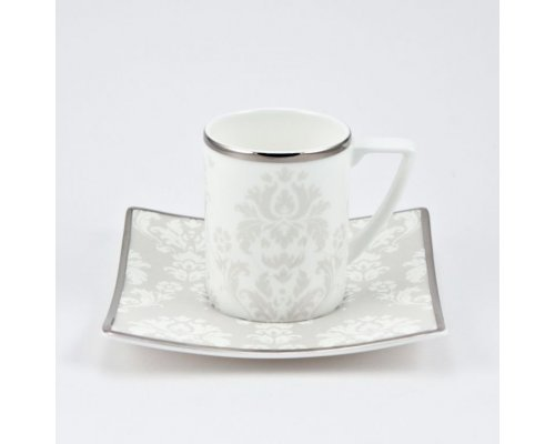 Набор 6 чайных пар 200мл Париж Royal Bone China