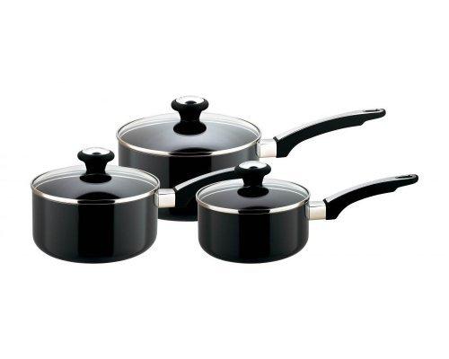 Набор посуды для приготовления Престиж Meyer Infinity Сirculon 3 предмета (3 вида ковшей с крышками: 16см/14л 18см/19л 20см/28л)