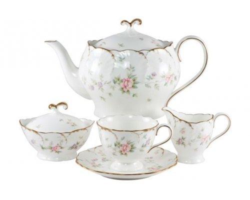 Сервиз чайный Narumi Воспоминание на 6 персон 19 предметов с блюдом для торта и лопаточкой