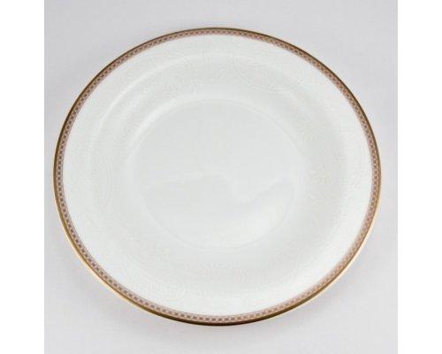 Набор 6 тарелок десертных 21см Золотая вышивка Royal Bone China