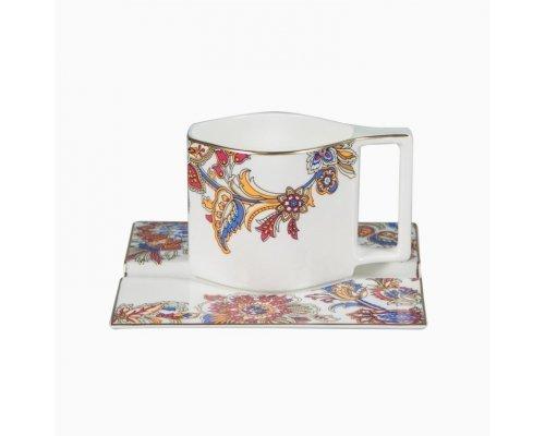 Сервиз чайный Агра Royal Bone China на 6 персон 13 предметов (6 чайных пар 280мл и тарелка подстановочная)