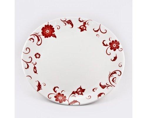 Набор 6 тарелок подстановочных 27см Амата Красный Royal Bone China