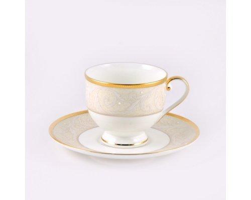 Чашка с блюдцем Narumi Ноктюрн золотой 0.24 л