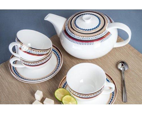 """Чайный сервиз Royal Aurel """"Неаполь"""" на 6 персон 13 предметов"""