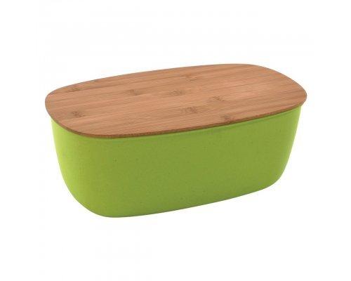 Емкость для хранения хлеба с крышкой 35,5*20*13,5см 6,2л (зеленая) CooknCo