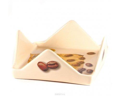 Блюдо квадратное с треугольными бортами 19 см Мокко Сестеси (Sestesi)