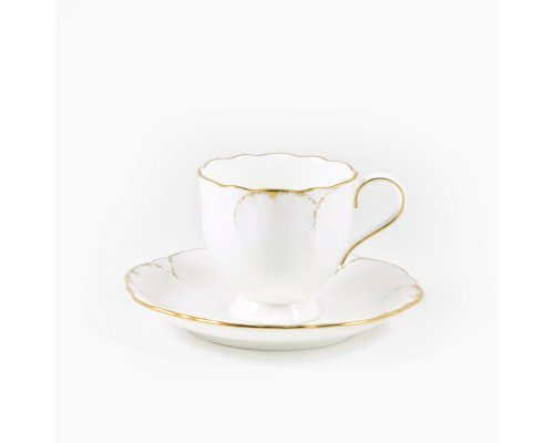 Набор из 6 кофейных пар 100мл Narumi Белый с золотом
