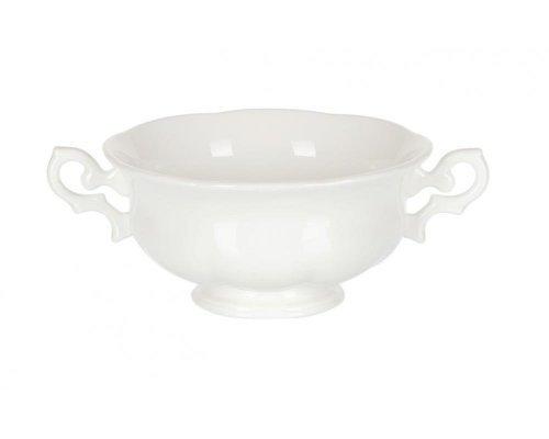 Бульонница на тарелке 350мл White Royal Fine China