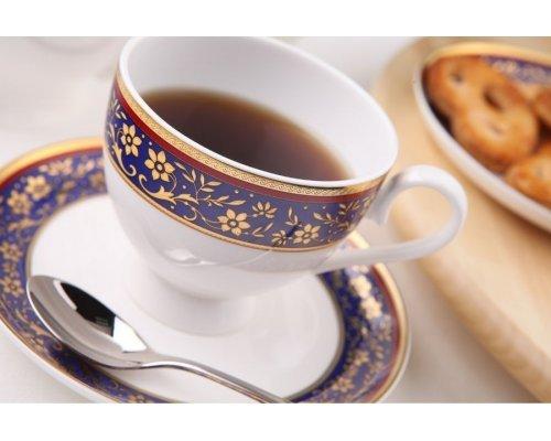 """Чайный сервиз Royal Aurel """"Кобальт"""" на 6 персон 15 предметов арт. 120"""