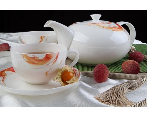 """Чайный сервиз Royal Aurel """"Фиеста"""" на 6 персон 13 предметов арт. 135"""