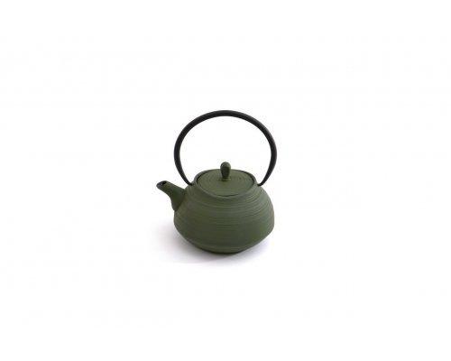 Заварочный чайник чугунный 1,1л (зеленый) Studio