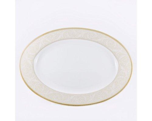 Блюдо овальное 31см Narumi Ноктюрн золотой