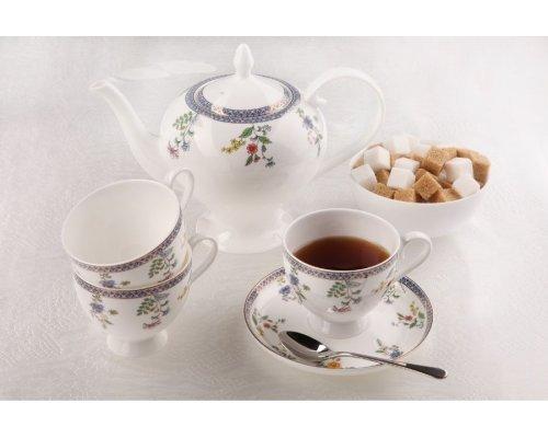 """Чайный сервиз Royal Aurel """"Бавария"""" на 6 персон 15 предметов арт. 130"""