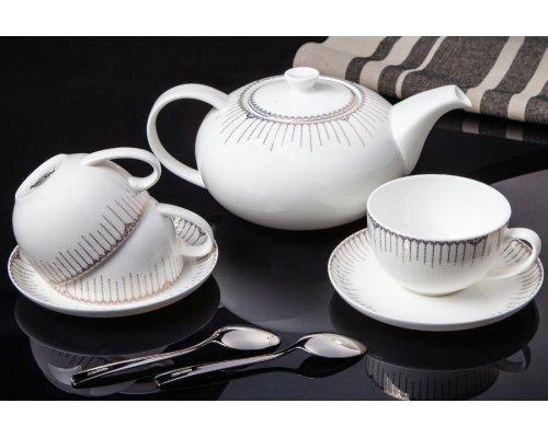 """Чайный сервиз Royal Aurel """"Версаль"""" на 6 персон 13 предметов арт. 144"""