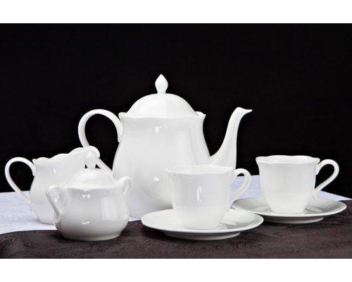 """Чайный сервиз Royal Aurel """"Тюльпан"""" на 6 персон 15 предметов арт.150"""