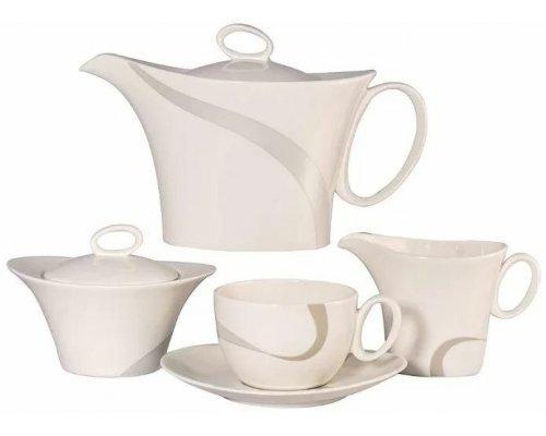 Сервиз чайный Атласная лента Royal Fine China на 6 персон 17 предметов
