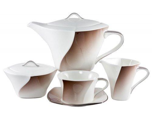 Сервиз чайный Narumi Дюк шоколадный на 6 персон 17 предметов