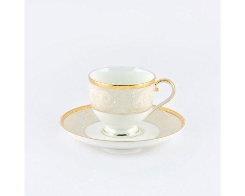 Набор 6 кофейных пар Narumi Ноктюрн золотой 100мл