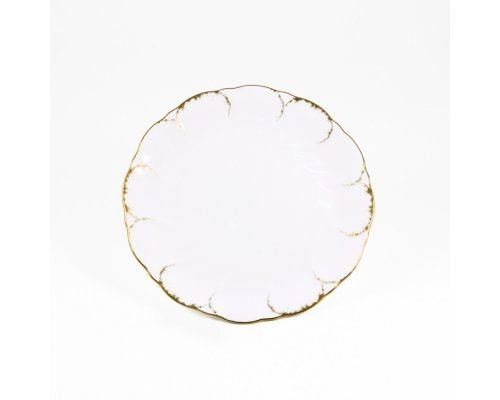 Набор 6 тарелок 17см Narumi Белый с золотом