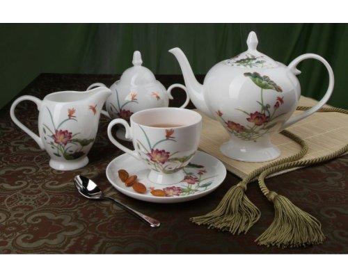 """Чайный сервиз Royal Aurel """"Лотос"""" на 6 персон 15 предметов арт. 127"""