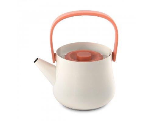 Чайник заварочный с ситечком объемом 1л (белый) Ron