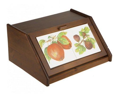 Хлебница деревянная Фрукты Сестеси (Sestesi) д38,5*ш30*в18