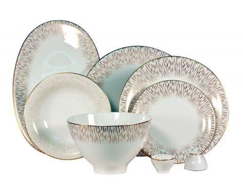 Сервиз столовый Royal Bone China Голден Глоу на 6 персон 23 предмета