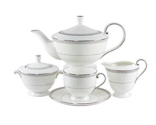 Сервиз чайный Narumi Луна на 6 персон 18 предметов (с тортницей)