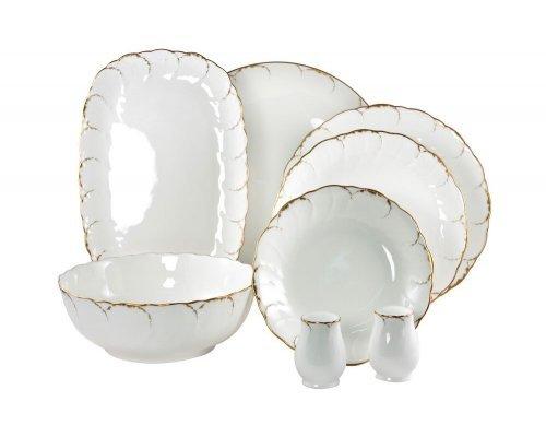 Сервиз столовый Narumi Белый с золотом на 6 персон 23 предмета
