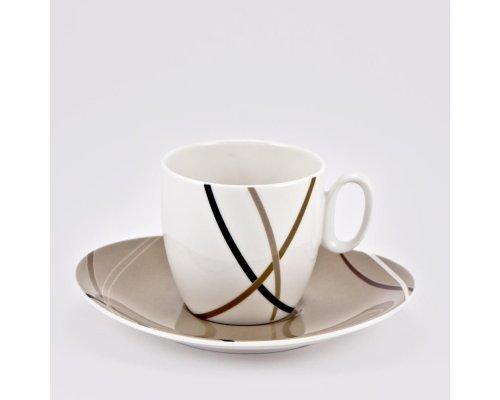 Набор 6 кофейных пар Мокко Royal Fine China