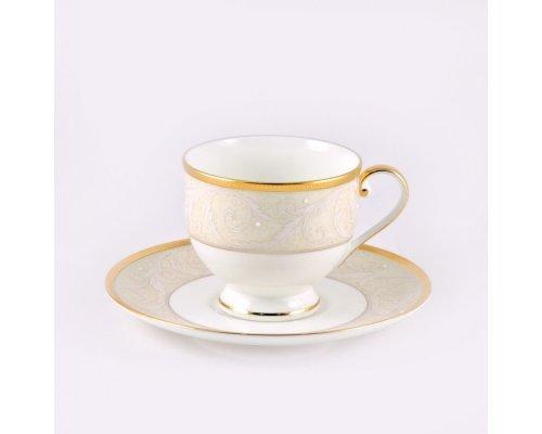 Набор 6 чайных пар Narumi Ноктюрн золотой 220мл