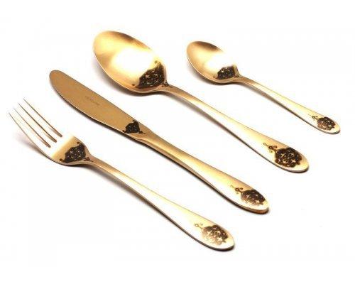 Набор столовых приборов Herdmar ATLANTA OLD GOLD-5 на 6 персон 24 предмета