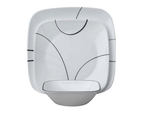 Набор посуды столовый сервиз Corelle Simple Lines на 6 персон 18 предметов