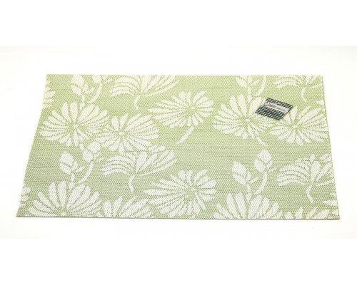 Подставка под горячее Hans & Gretchen полимер 30*40см зеленая цветы
