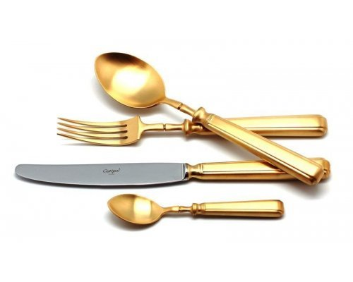 Набор столовых приборов Cutipol PICCADILLY GOLD мат. на 6 персон 24 предмета