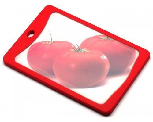 Кухонная доска Microban FLUTTO 20*14см Красная помидоры