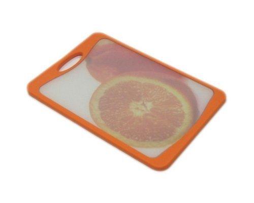 Кухонная доска Microban FLUTTO 37*25см Оранжевый апельсин