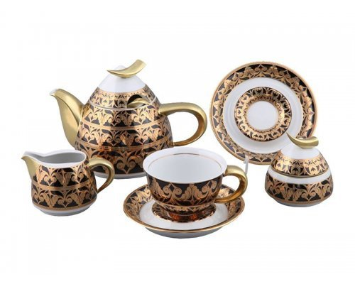 Сервиз кофейный Rudolf Kampf Кельт 2293 на 6 персон 15 предметов с чайником 0,55л