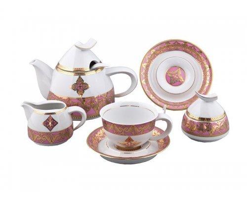 Сервиз чайный Rudolf Kampf Кельт 2296 на 6 персон 15 предметов с чайником 1,20л в подарочном коробе