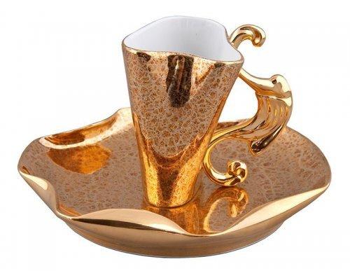 Чашка высокая с блюдцем Rudolf Kampf Дали 2252 0,15л в подарочном коробе
