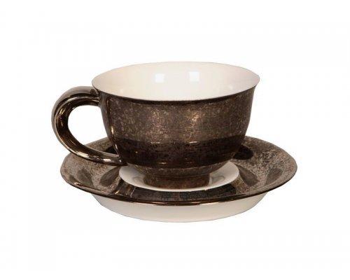 Чашка с блюдцем 0,35л Rudolf Kampf Кельт 2251 в подарочном коробе