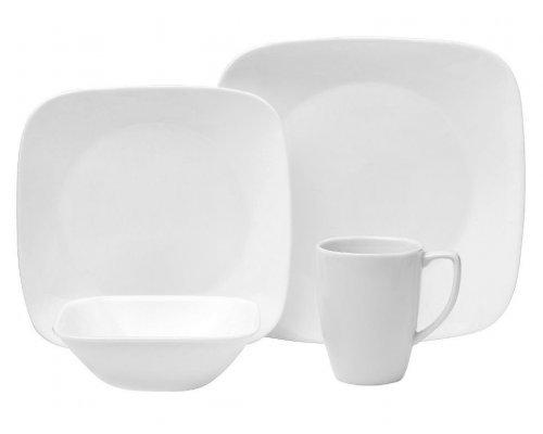 Набор посуды столовый сервиз Corelle Pure White на 4 персоны 16 предметов