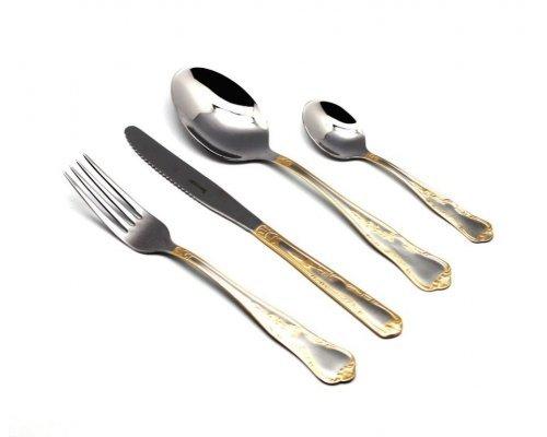 Набор столовых приборов Herdmar SAMBA на 6 персон 24 предмета, полированный с декором