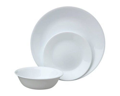 Набор посуды столовый сервиз Corelle Winter Frost White на 4 персоны 12 предметов