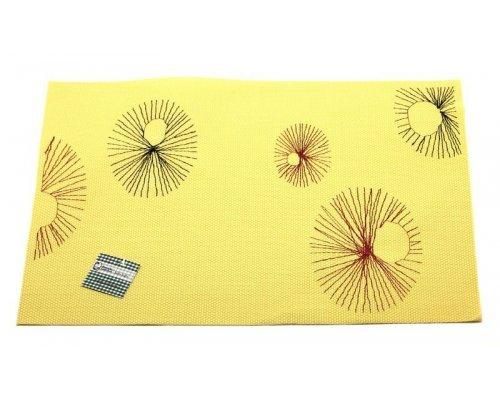 Подставка под горячее Hans & Gretchen полимер 30*40см желтая круги