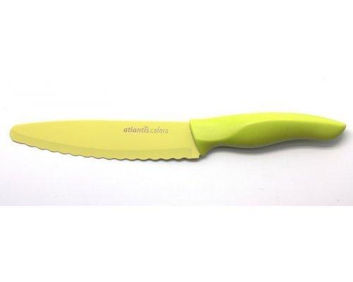 Нож универсальный с зубчиками Microban Color Зеленый 15см