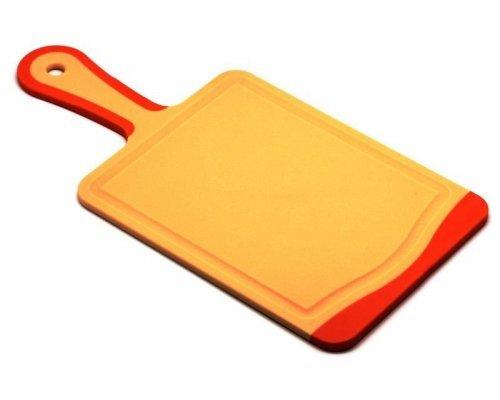 Кухонная доска с ручкой Microban FLUTTO 35*18см Оранжевая