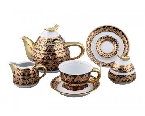 Сервиз чайный Rudolf Kampf Кельт 2293 на 6 персон 15 предметов с чайником 0,55л в подарочном коробе