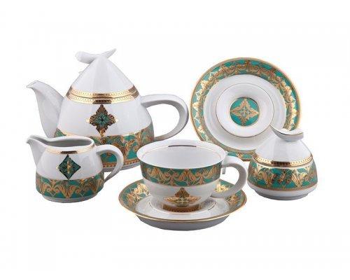 Сервиз чайный Rudolf Kampf Кельт 2297 на 6 персон 15 предметов с чайником 1,20л в подарочном коробе